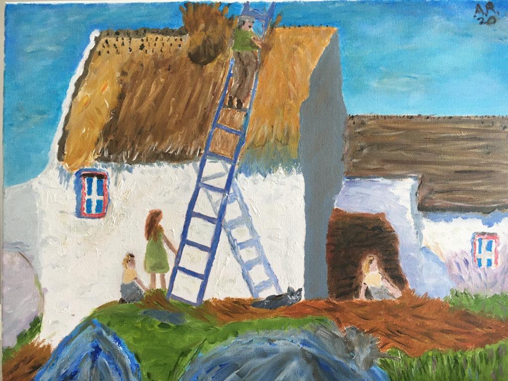 Inspired by Irish artist Maurice McGonigle's 'The Thatcher'